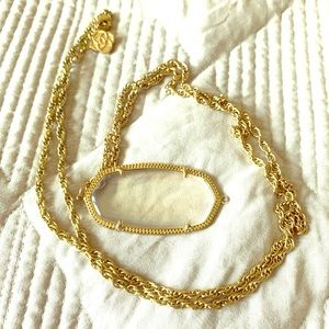 Kendra long necklace clear stone